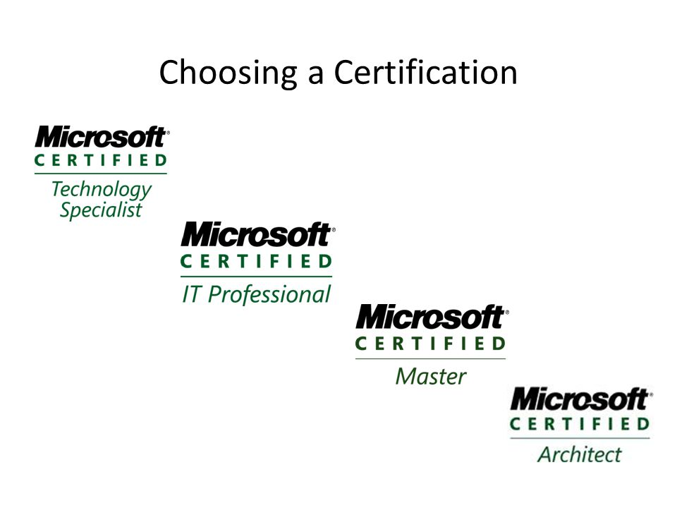 Choosing a Certification