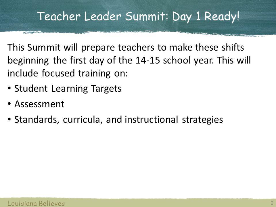 Teacher Leader Summit: Day 1 Ready.