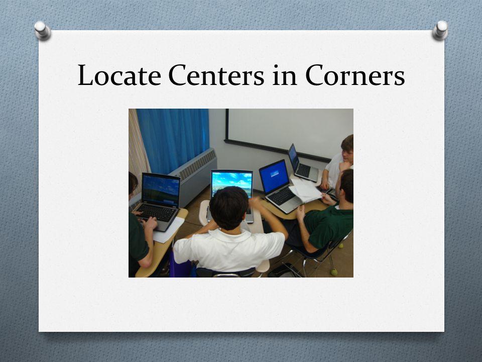 Locate Centers in Corners
