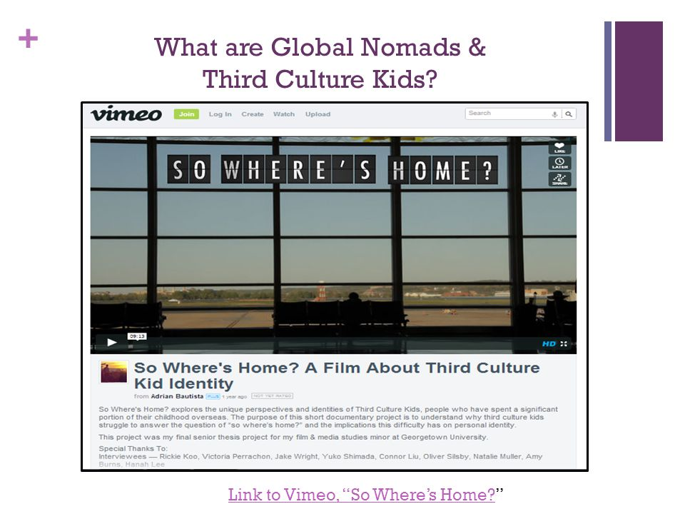 + What are Global Nomads & Third Culture Kids.