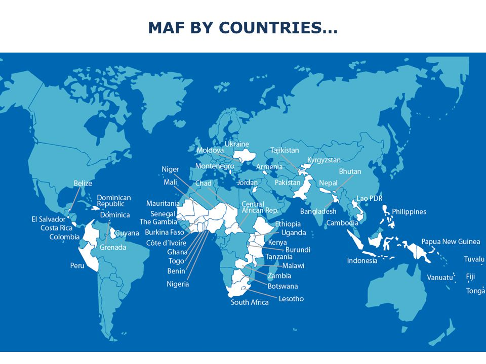 MAF BY COUNTRIES…