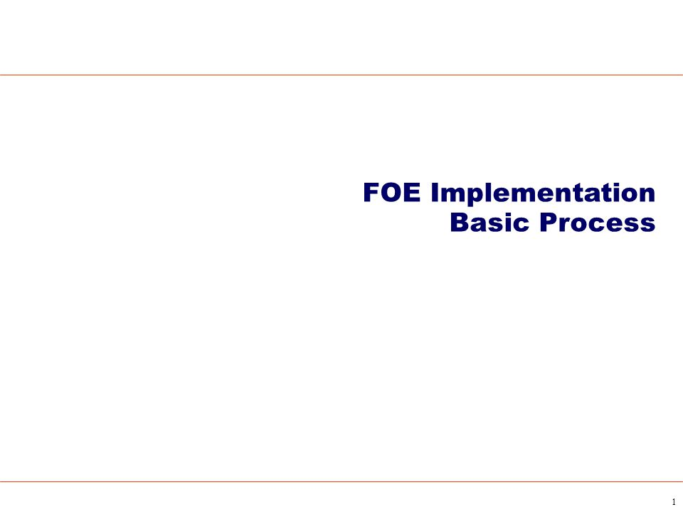 1 FOE Implementation Basic Process