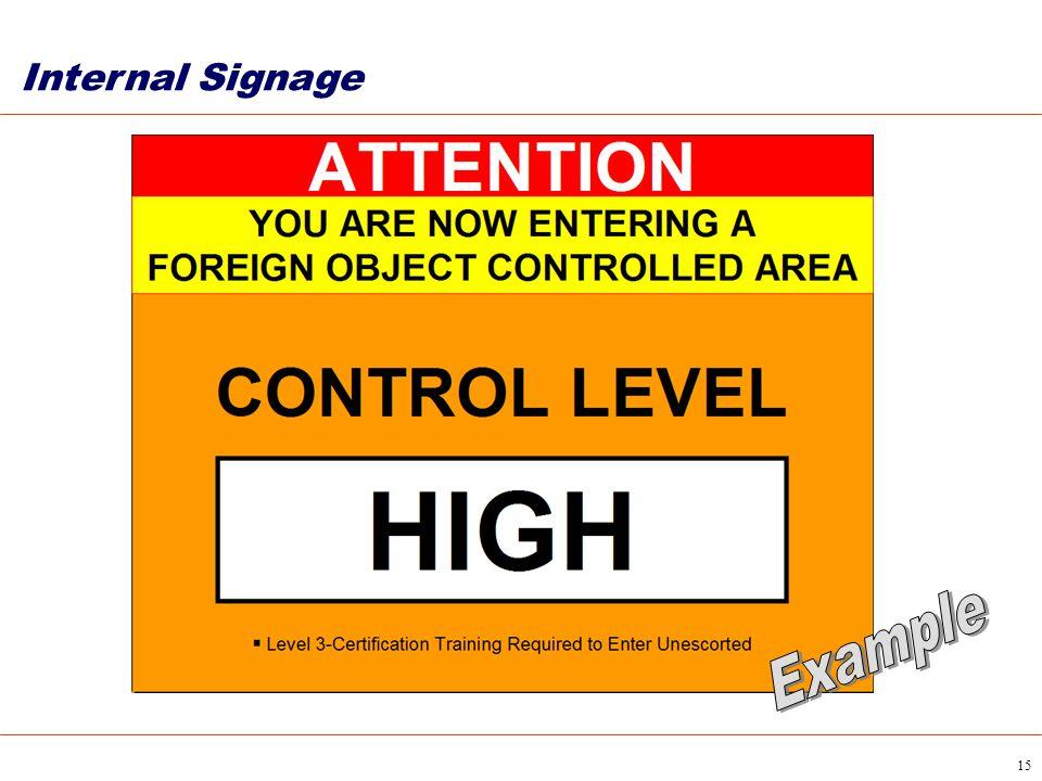 15 Internal Signage
