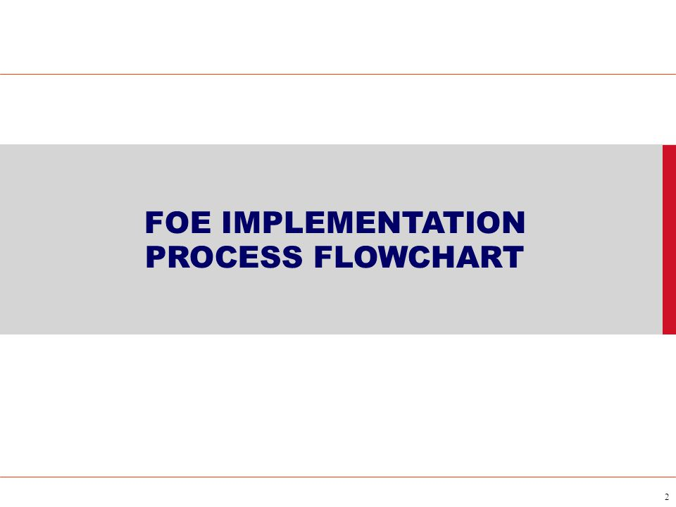 2 FOE IMPLEMENTATION PROCESS FLOWCHART