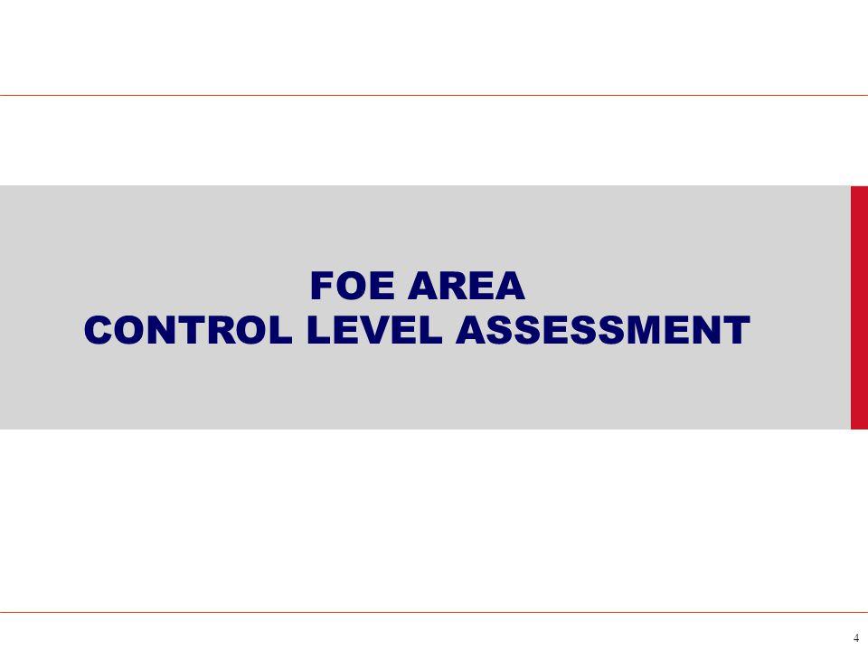 4 FOE AREA CONTROL LEVEL ASSESSMENT