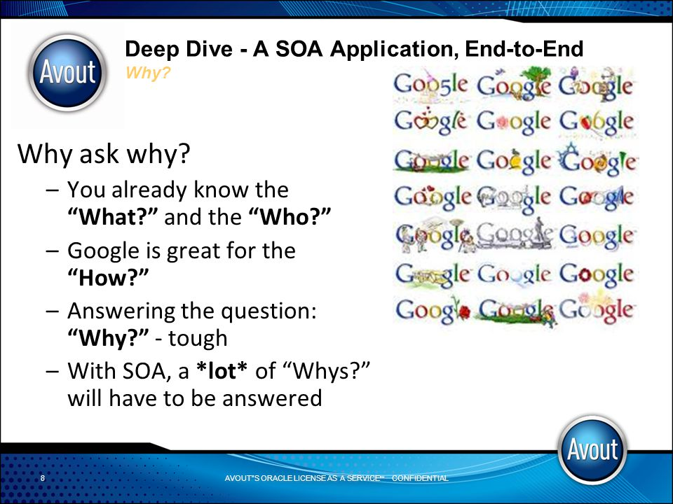AVOUT S ORACLE LICENSE AS A SERVICE SM CONFIDENTIAL Deep Dive - A SOA Application, End-to-End Task Form Demo Task Form Creation with JDeveloper Demo