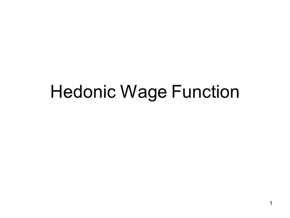 1 Hedonic Wage Function