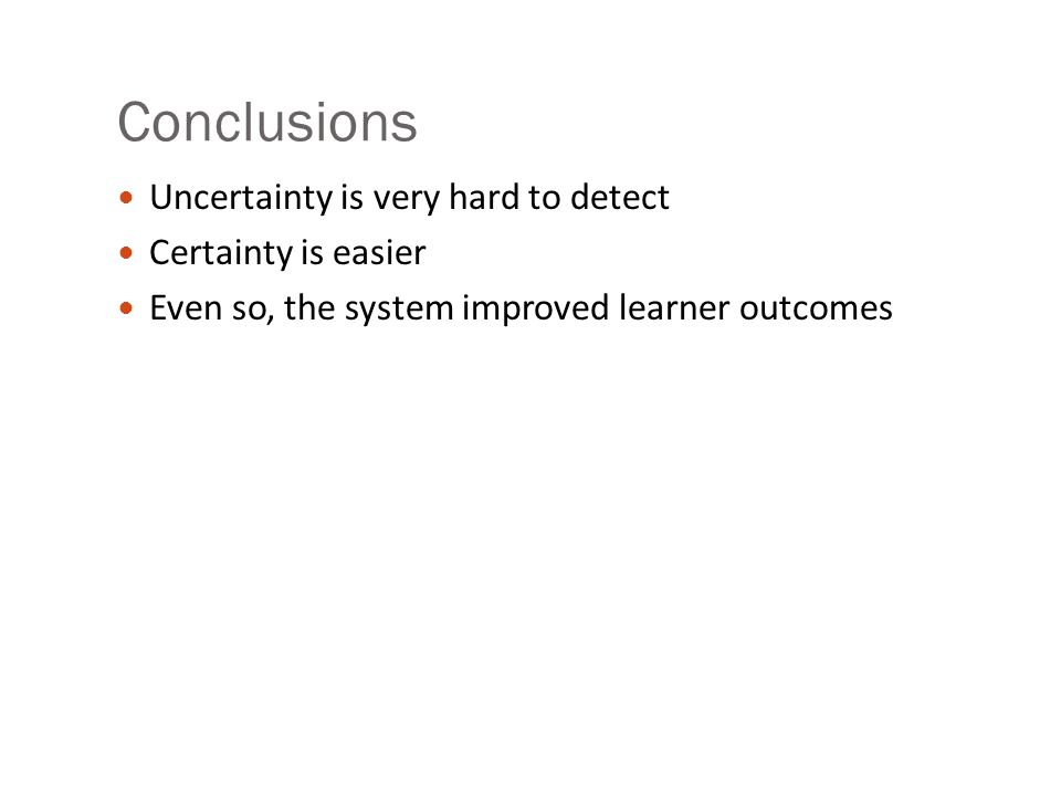 Features for uncertainty a