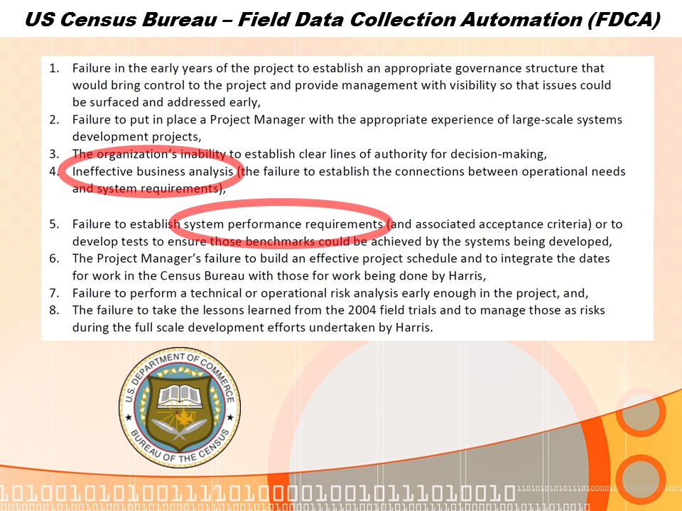US Census Bureau – Field Data Collection Automation (FDCA)