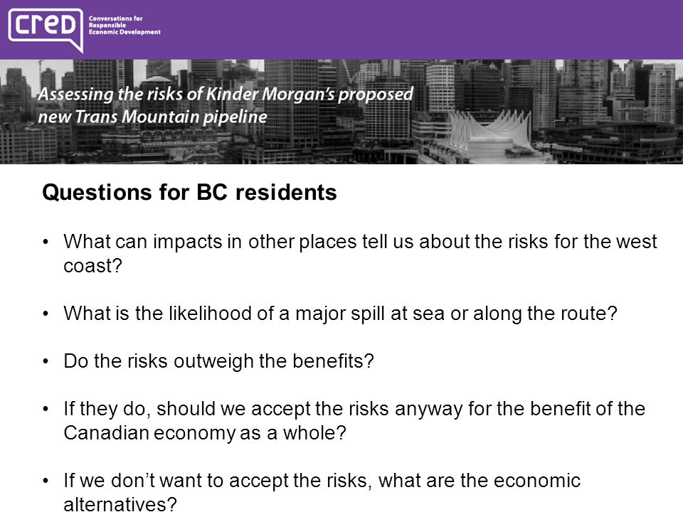 Questions for BC residents What can impacts in other places tell us about the risks for the west coast.