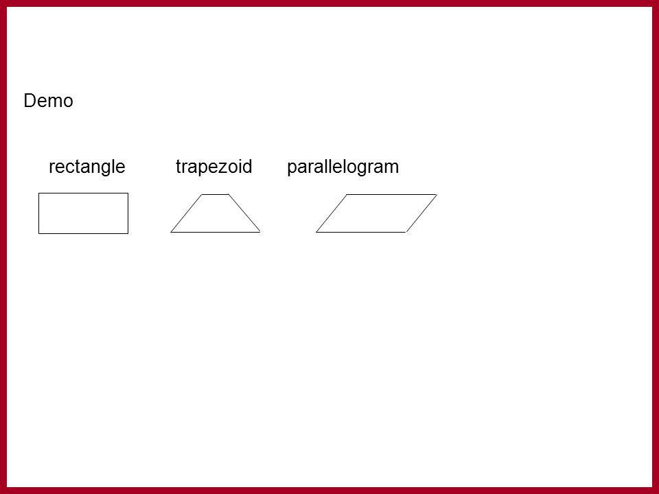 Demo rectangle trapezoidparallelogram