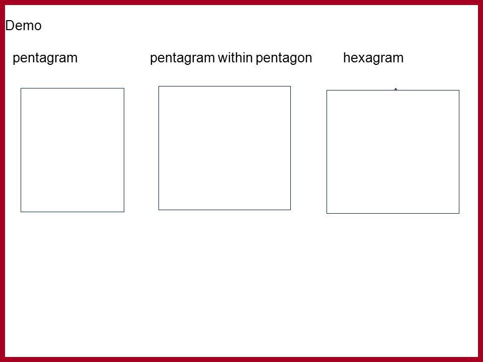 Demo pentagrampentagram within pentagonhexagram