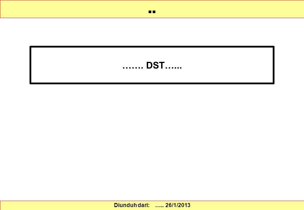 ……. DST…..... Diunduh dari: ….. 26/1/2013