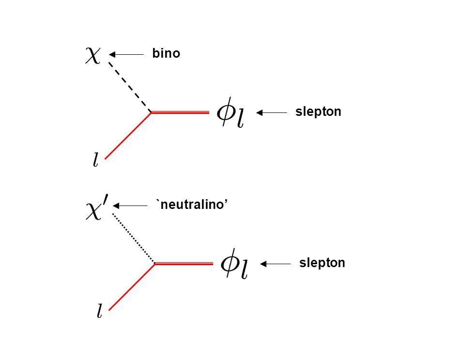 slepton bino slepton `neutralino'