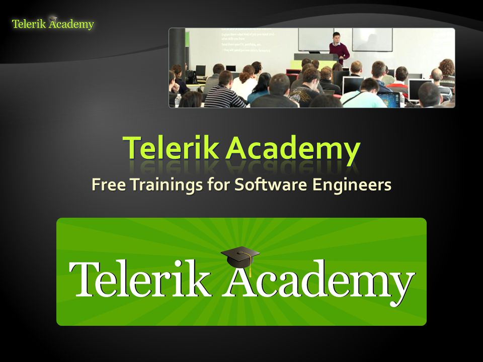  George Georgiev  Technical Trainer @ Telerik Corp.