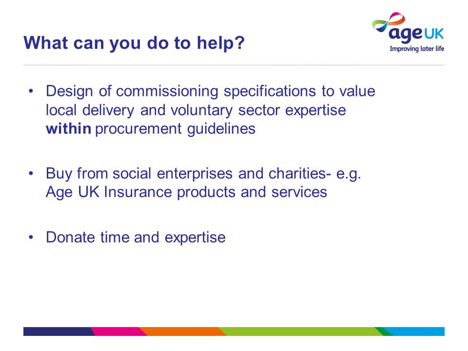 Design of commissioning specifications to value local delivery and voluntary sector expertise within procurement guidelines Buy from social enterprise