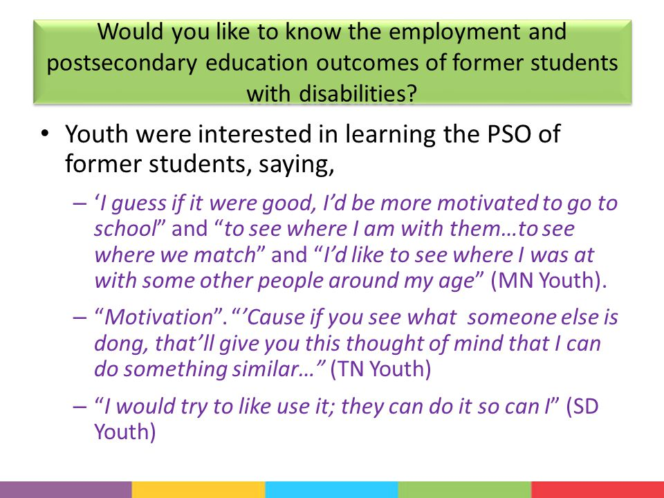 Would you like to know the employment and postsecondary education outcomes of former students with disabilities.