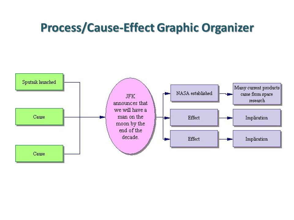 Process/Cause-Effect Graphic Organizer