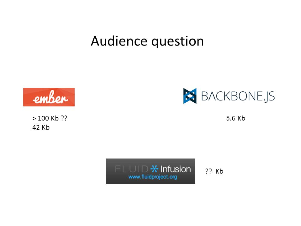 Audience question Kb > 100 Kb 42 Kb 5.6 Kb