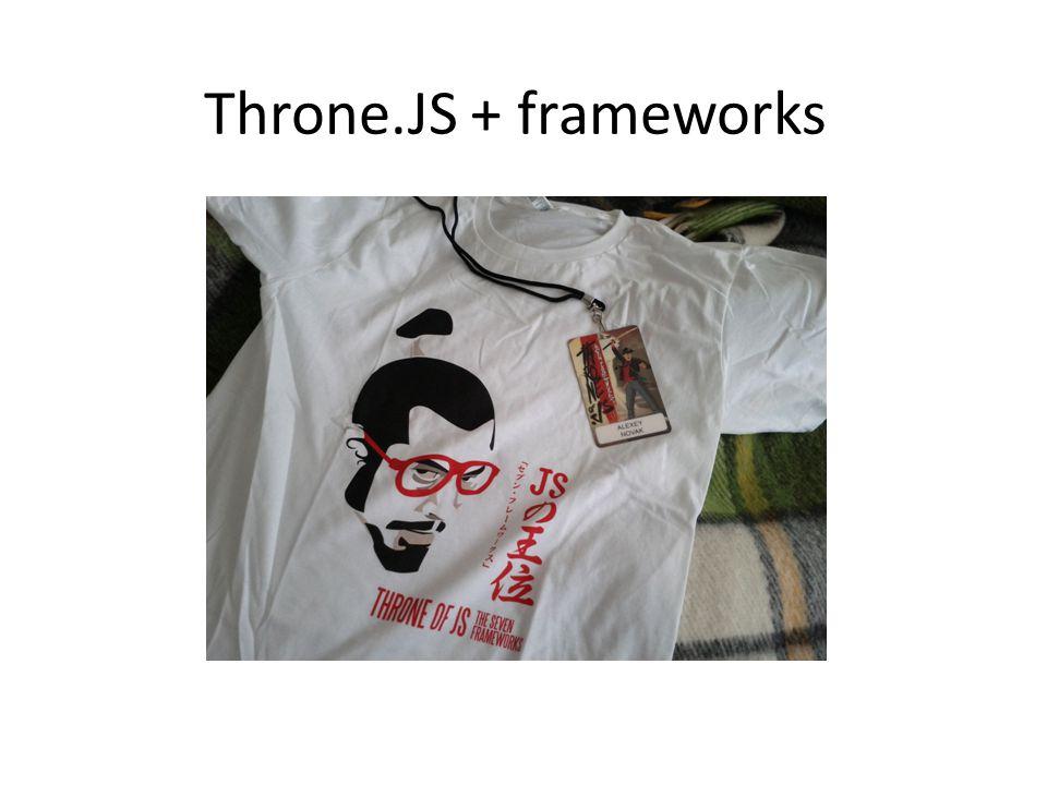 Throne.JS + frameworks