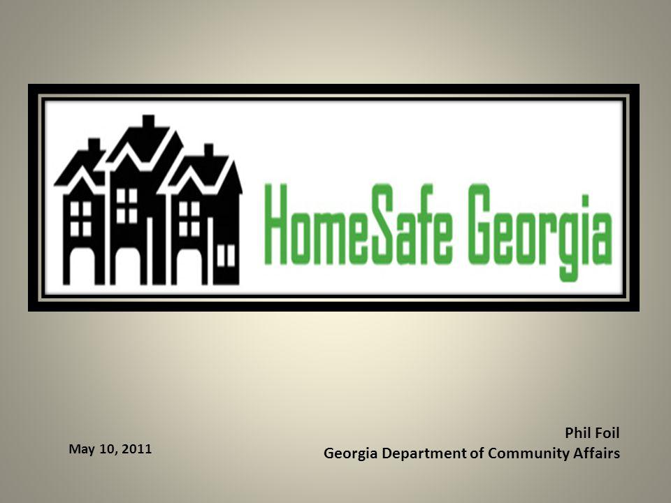 Phil Foil Georgia Department of Community Affairs May 10, 2011