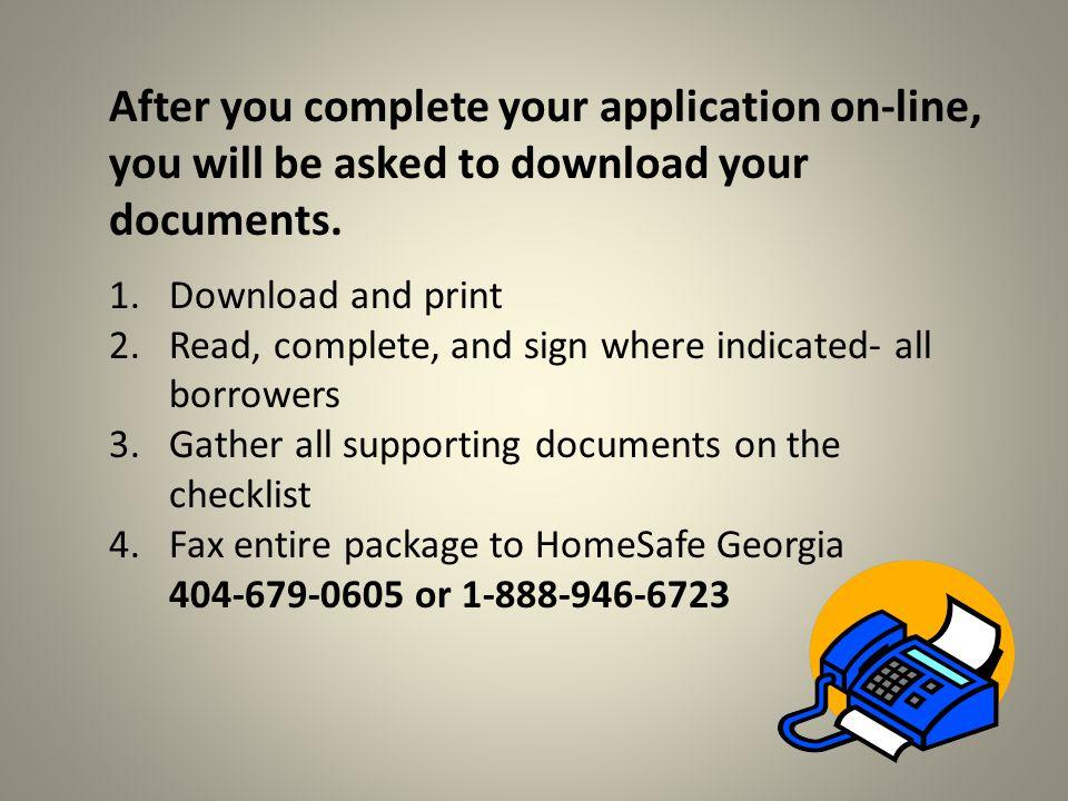 After profile: Seven steps for completing on- line application