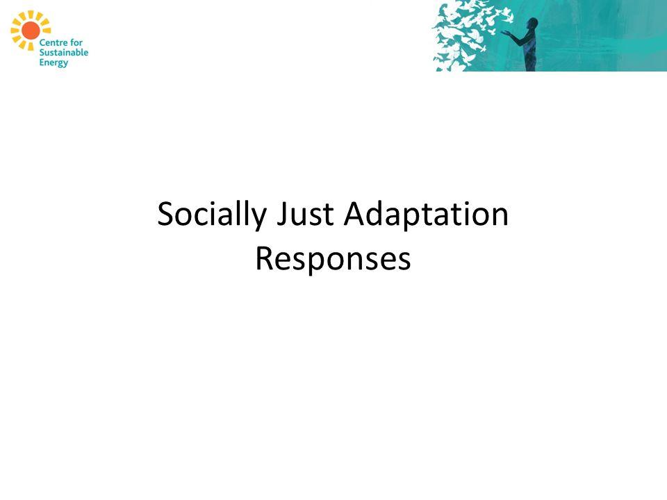Socially Just Adaptation Responses