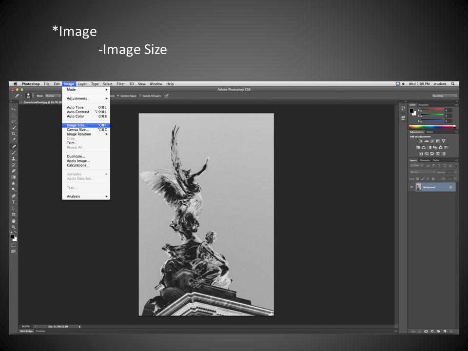 *Image -Image Size