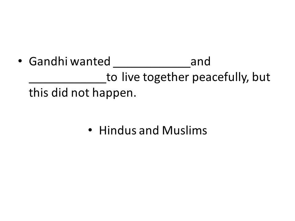 Hindus and Muslims