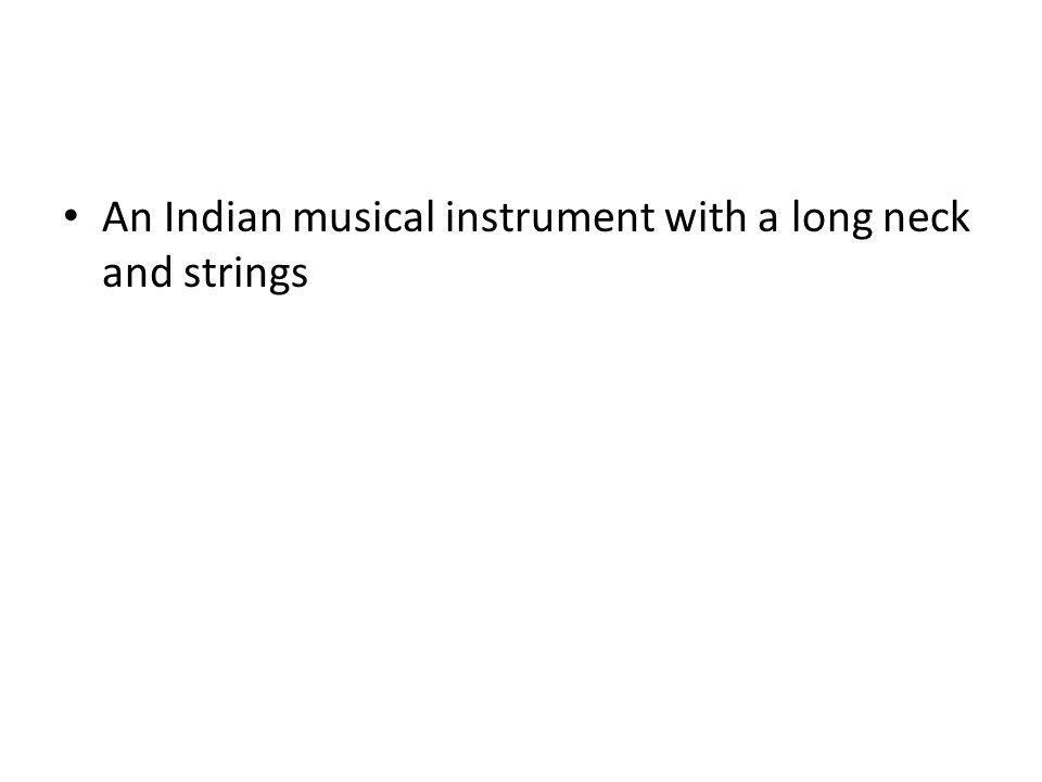 An Indian musical instrument with a long neck and strings