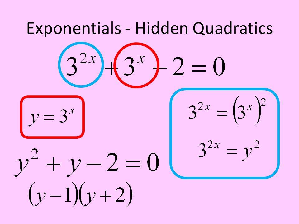 Exponentials - Hidden Quadratics