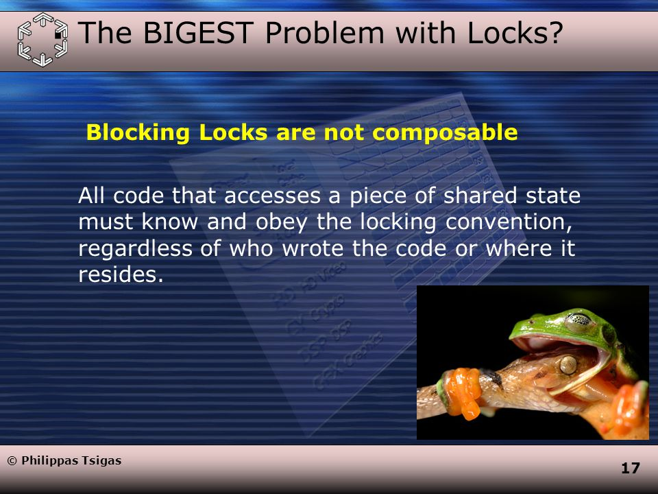 17  The BIGEST Problem with Locks.