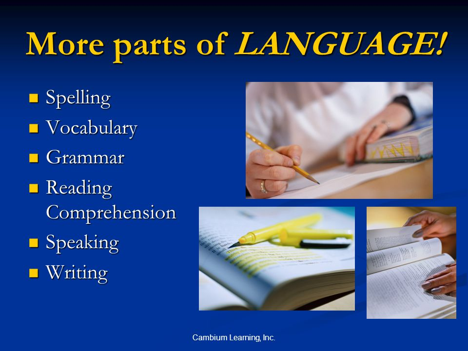 Cambium Learning, Inc. Fluency Training Fluency is the speed and accuracy in which you read.