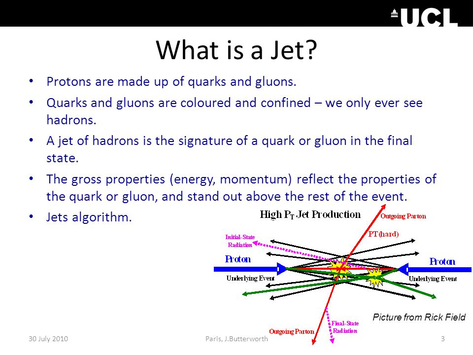 What is a Jet. Protons are made up of quarks and gluons.