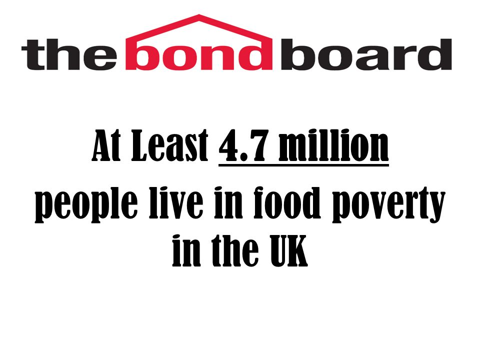 At Least 4.7 million people live in food poverty in the UK