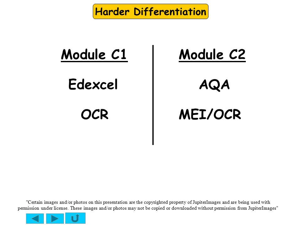 Harder Differentiation