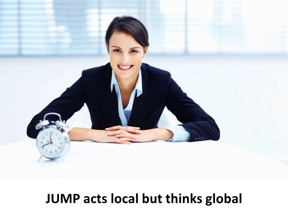 JUMP acts local but thinks global