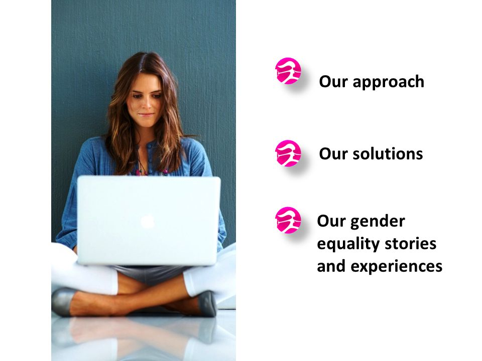 Our approach Our solutions Our gender equality stories and experiences