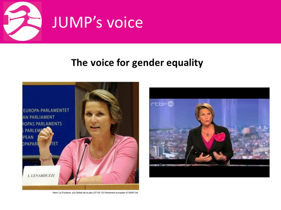 JUMP's voice The voice for gender equality