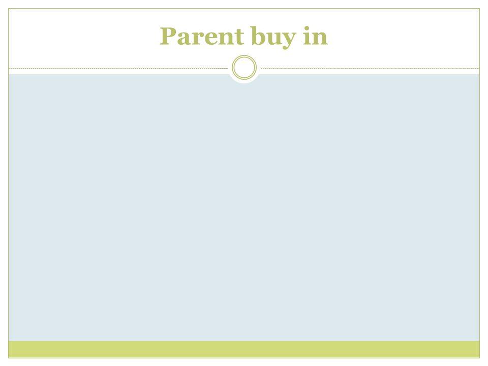 Parent buy in