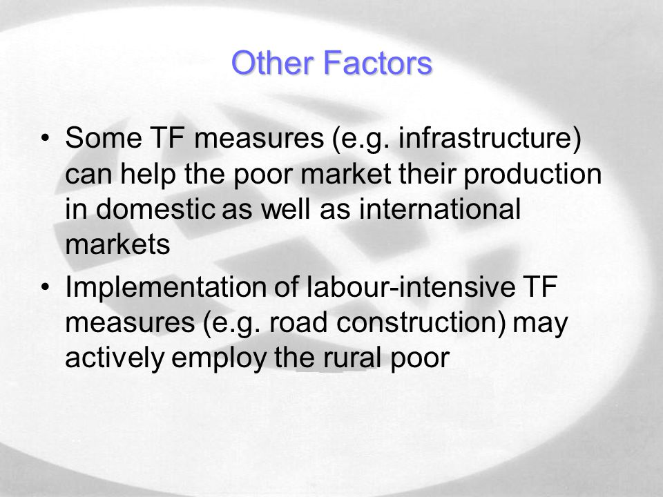 Other Factors Some TF measures (e.g.