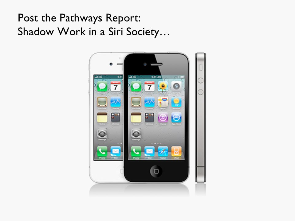 Post the Pathways Report: Shadow Work in a Siri Society…