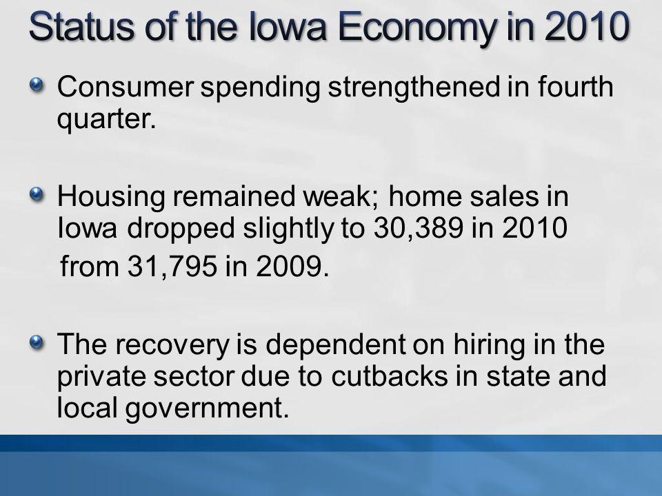 Consumer spending strengthened in fourth quarter.