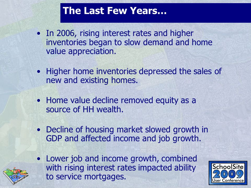 Housing Market Unsold Inventory Index- July 2008 6.7 months and dropping Source: CA Assoc.