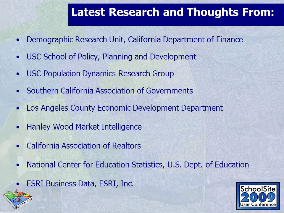 Latest Research and Thoughts From: Demographic Research Unit, California Department of Finance USC School of Policy, Planning and Development USC Popu