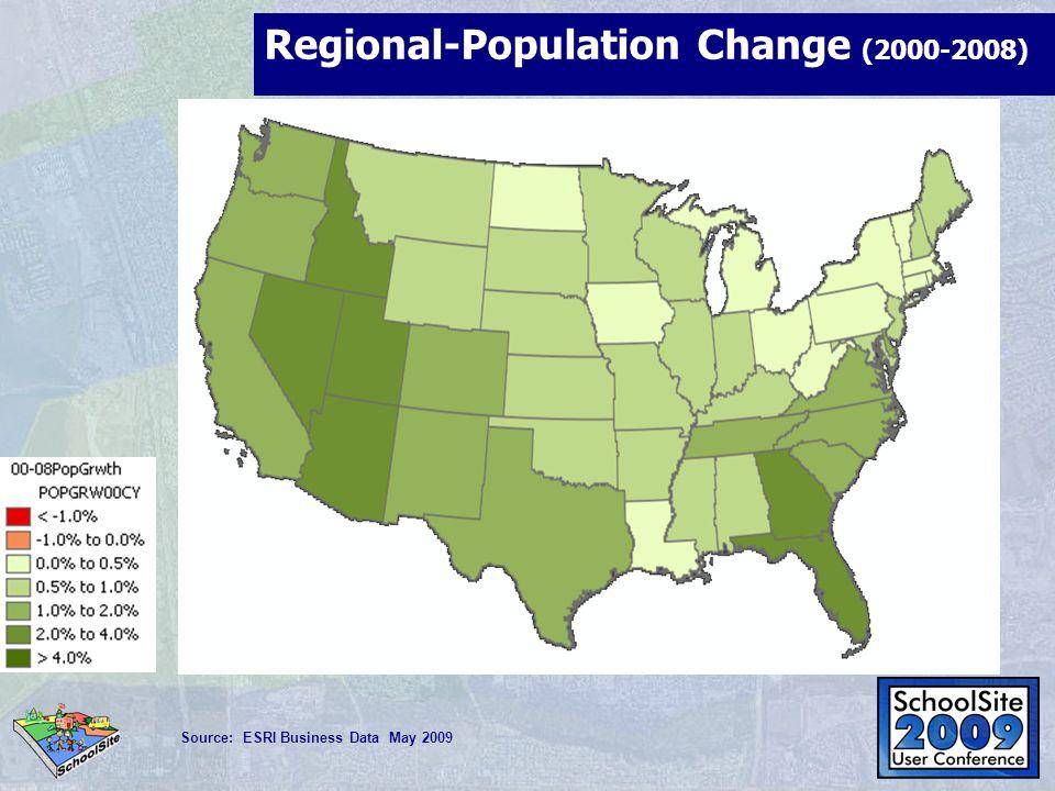 Unemployment- April 2009 Source: ESRI Business Data April 2009
