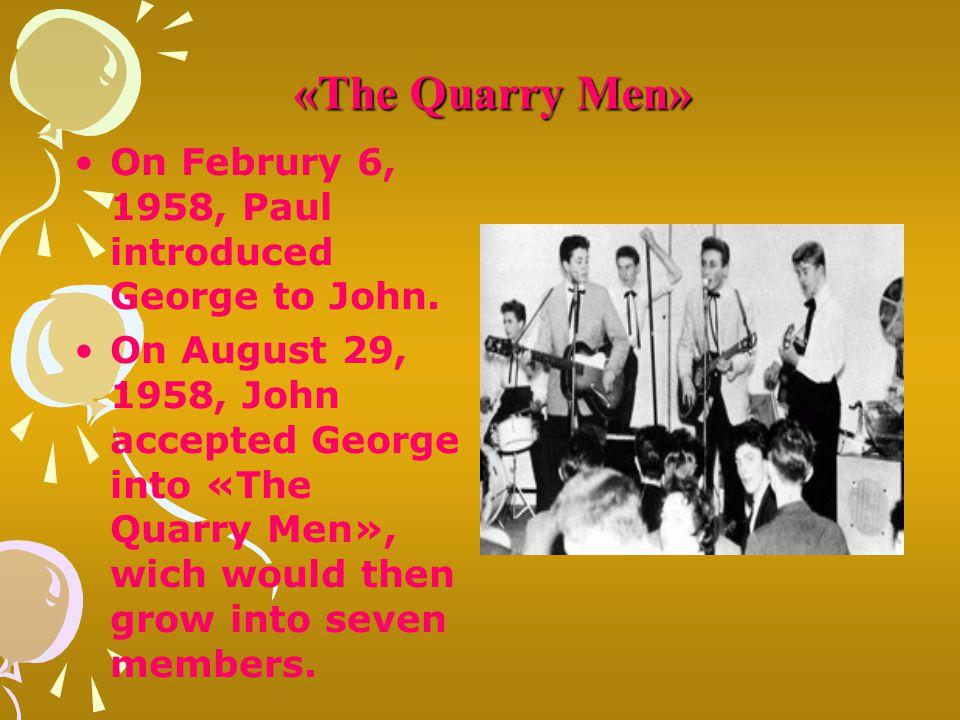 On Februry 6, 1958, Paul introduced George to John.