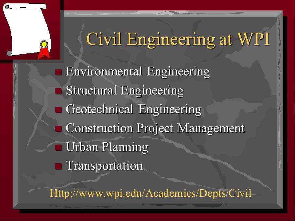 Civil Engineering Topics & Participants n Spreadsheets n Environmental Engineering n Writing n Design-Construction Integration n Pavements n Ethics CE 1030