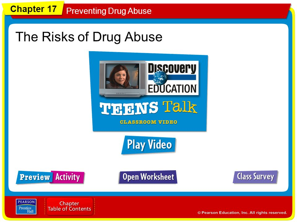 Chapter 17 Preventing Drug Abuse The Risks of Drug Abuse