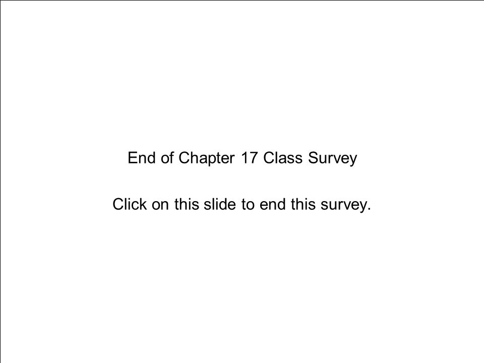 Chapter 17 Preventing Drug Abuse End of Chapter 17 Class Survey Click on this slide to end this survey.